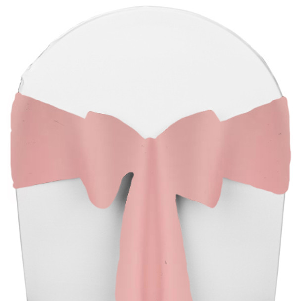 Solid Polyester Chair Sash-Light Pink
