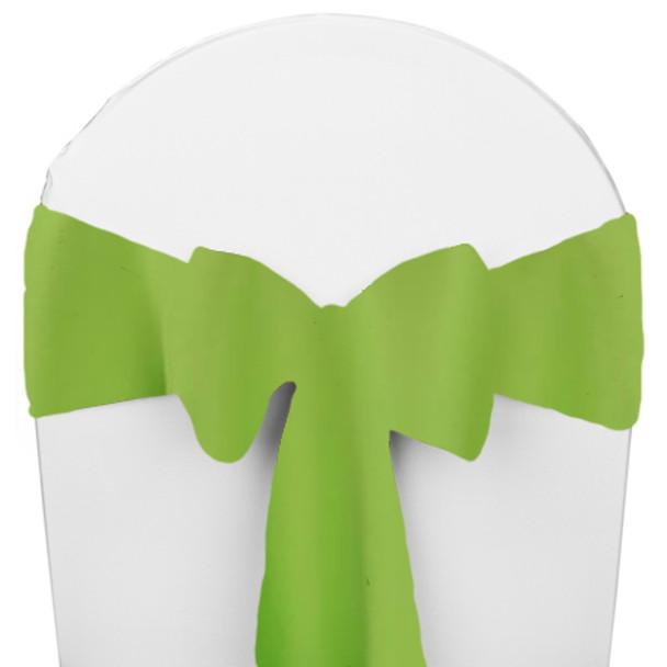 Solid Polyester Chair Sash-Lime