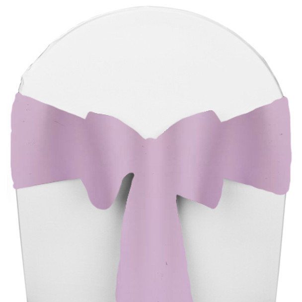 Solid Polyester Chair Sash-Lilac