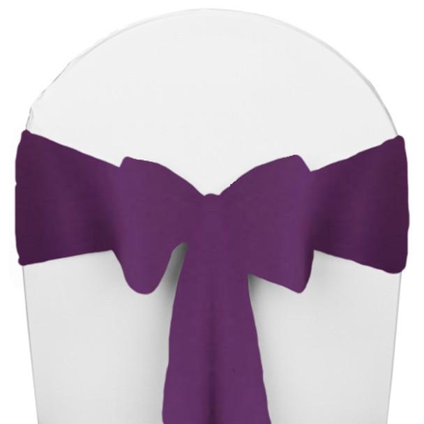 Solid Polyester Chair Sash-Plum
