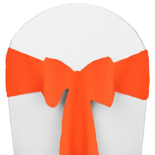 Solid Polyester Chair Sash-Neon Orange