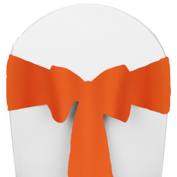 Solid Polyester Chair Sash-Pumpkin