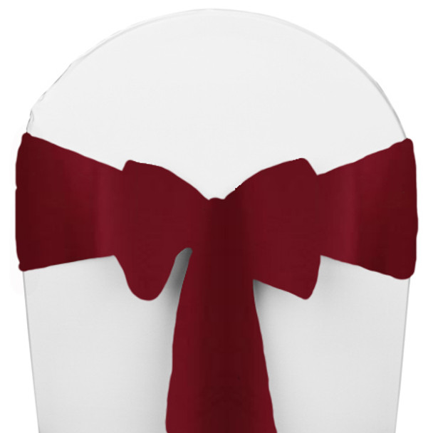 Solid Polyester Chair Sash-Ruby