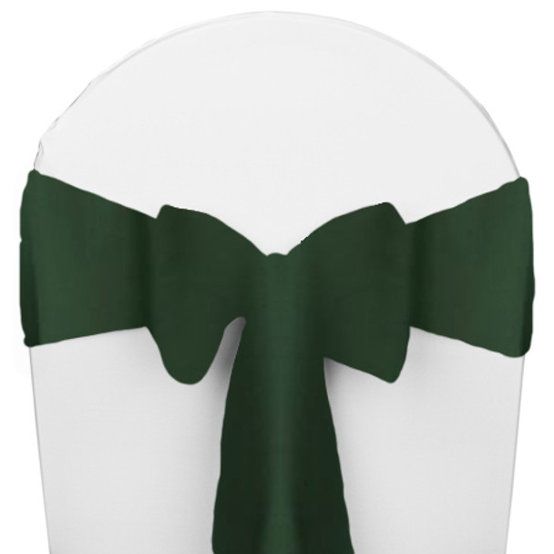 Solid Polyester Chair Sash-Moss