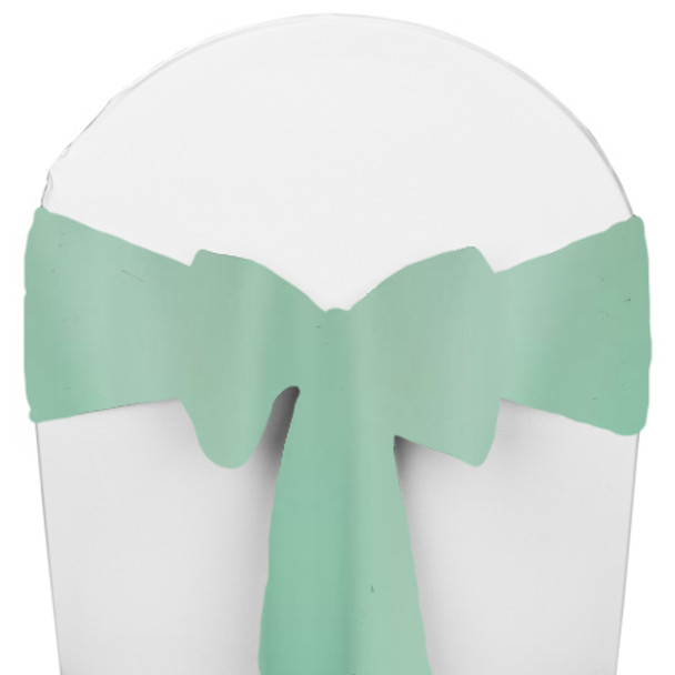 Solid Polyester Chair Sash-Pistachio