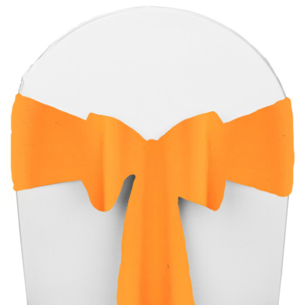 Solid Polyester Chair Sash-Neon Tangerine