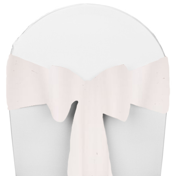 Solid Polyester Chair Sash-White