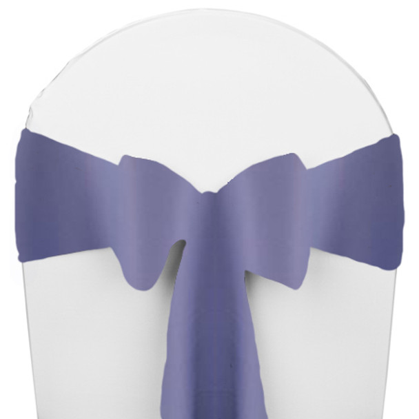 Solid Polyester Chair Sash-Periwinkle