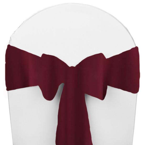 Solid Polyester Chair Sash-Burgundy