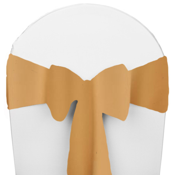 Solid Polyester Chair Sash-Camel
