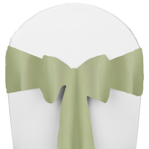 Solid Polyester Chair Sash-Celadon