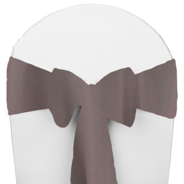 Solid Polyester Chair Sash-Charcoal