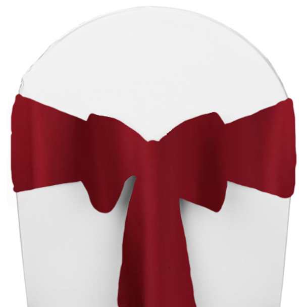 Solid Polyester Chair Sash-Cherry Red