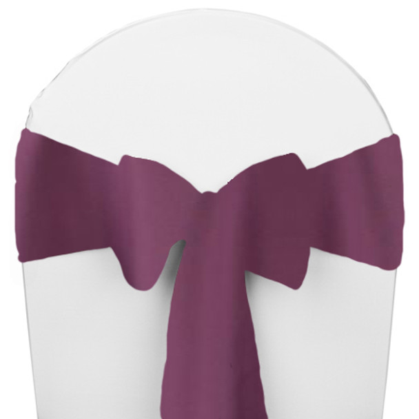 Solid Polyester Chair Sash-Claret
