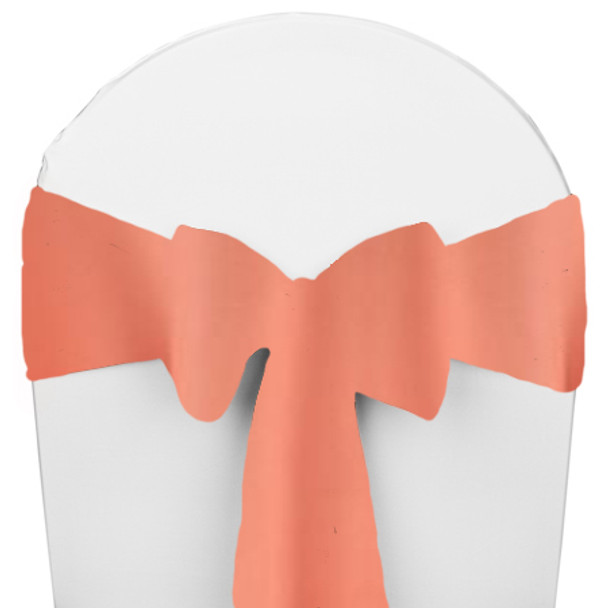 Solid Polyester Chair Sash-Coral