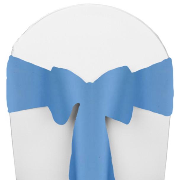 Solid Polyester Chair Sash-Cornflower