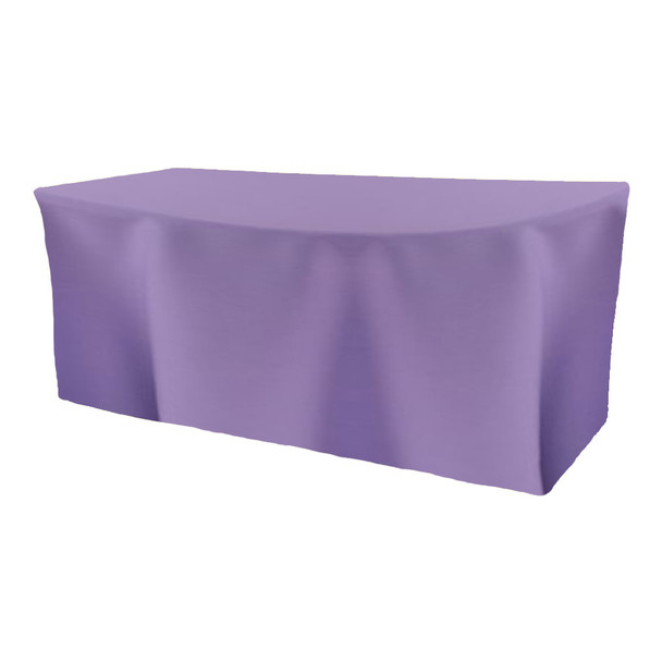 Solid Polyester Fitted Table Box Linen-Amethyst