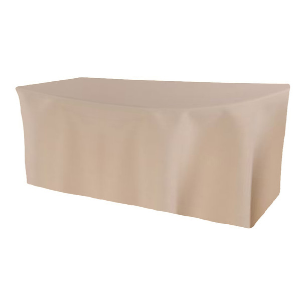 Solid Polyester Fitted Table Box Linen-Beige