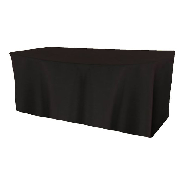 Solid Polyester Fitted Table Box Linen-Black