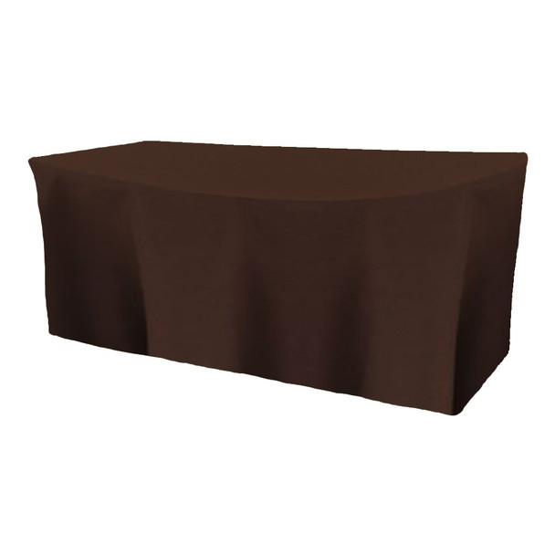 Solid Polyester Fitted Table Box Linen-Brown