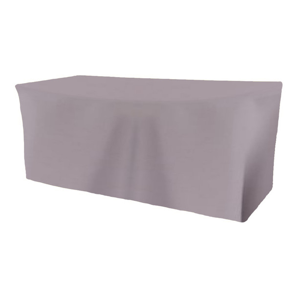 Solid Polyester Fitted Table Box Linen-Gray