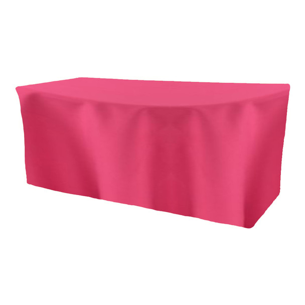 Solid Polyester Fitted Table Box Linen-BubbleGum