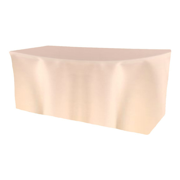 Solid Polyester Fitted Table Box Linen-Ivory