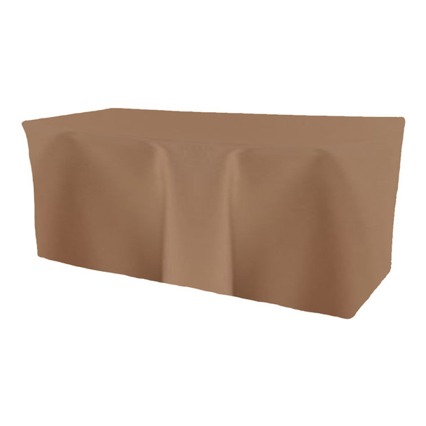 Solid Polyester Fitted Table Box Linen-Khaki