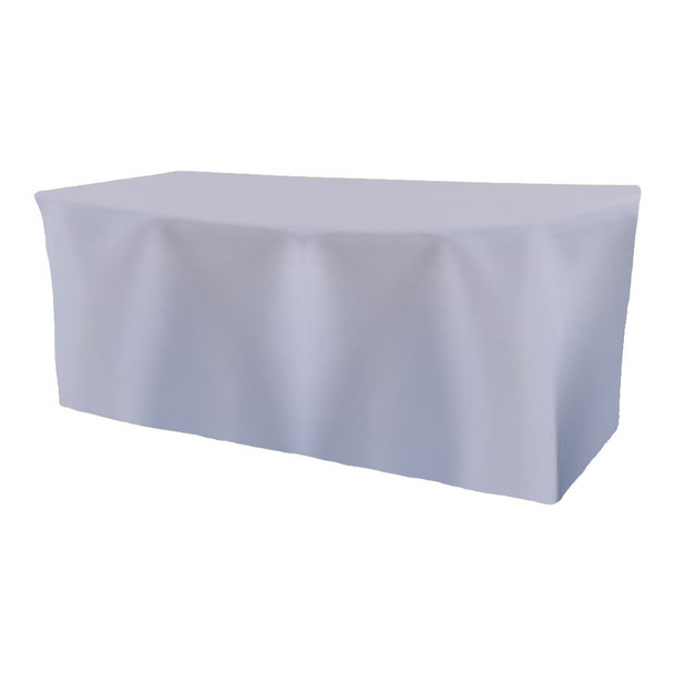 Solid Polyester Fitted Table Box Linen-Light Blue