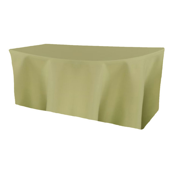 Solid Polyester Fitted Table Box Linen-Clover