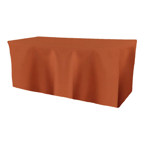 Solid Polyester Fitted Table Box Linen-Copper