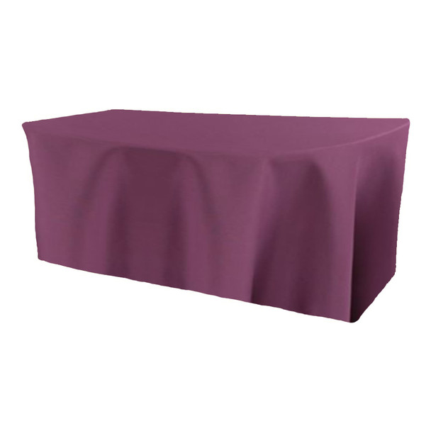 Solid Polyester Fitted Table Box Linen-Claret