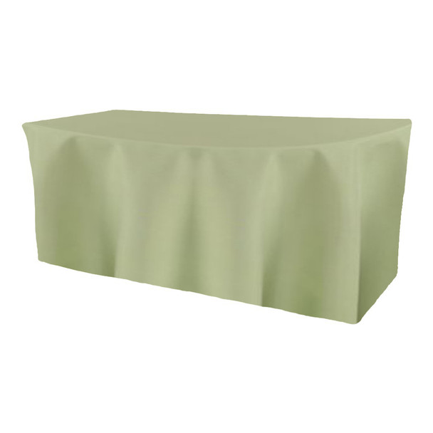 Solid Polyester Fitted Table Box Linen-Celadon