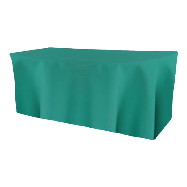 Solid Polyester Fitted Table Box Linen-Jade
