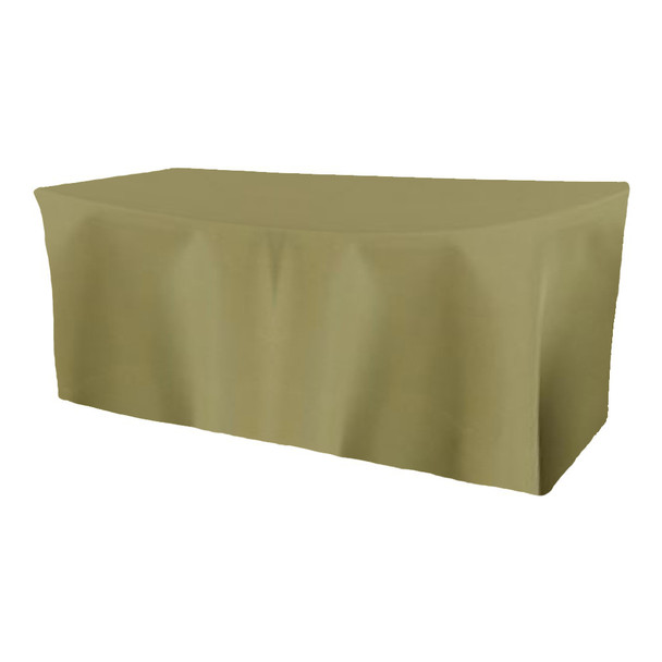 Solid Polyester Fitted Table Box Linen-Light Olive