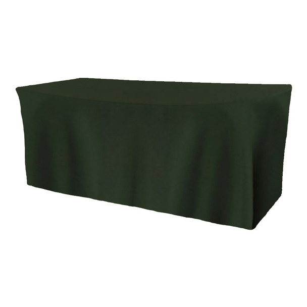Solid Polyester Fitted Table Box Linen-Forest