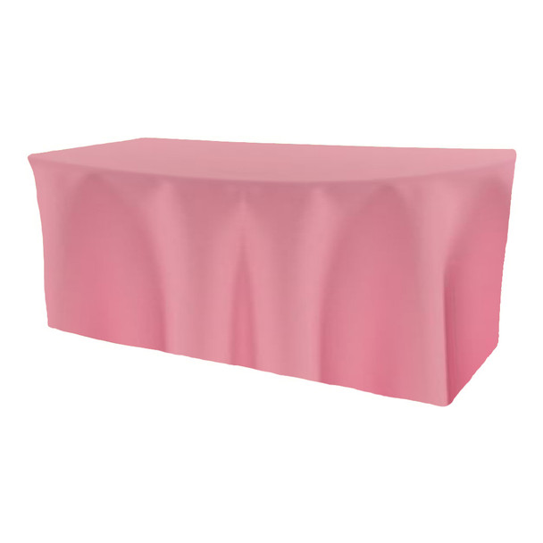 Solid Polyester Fitted Table Box Linen-Pink