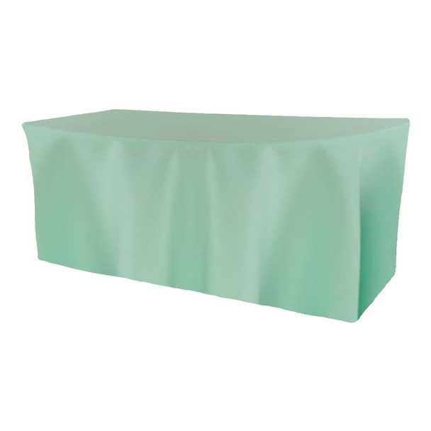 Solid Polyester Fitted Table Box Linen-Pistachio