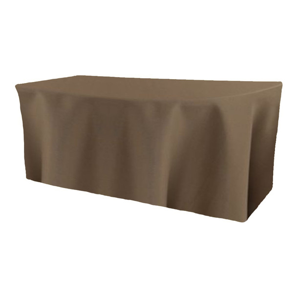 Solid Polyester Fitted Table Box Linen-Olive