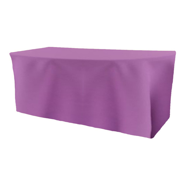 Solid Polyester Fitted Table Box Linen-Violet