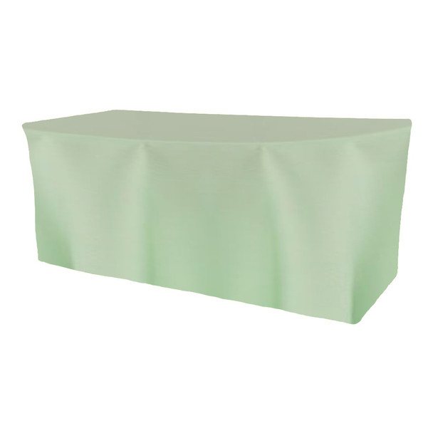 Solid Polyester Fitted Table Box Linen-Mint
