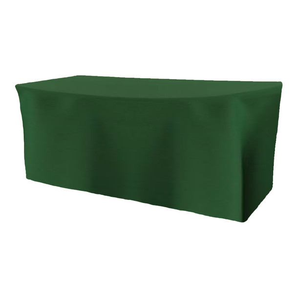 Solid Polyester Fitted Table Box Linen-Hunter