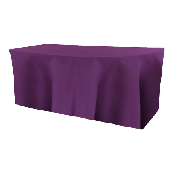 Solid Polyester Fitted Table Box Linen-Plum