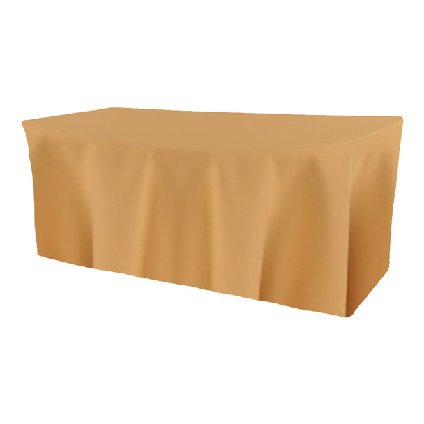 Solid Polyester Fitted Table Box Linen-Camel