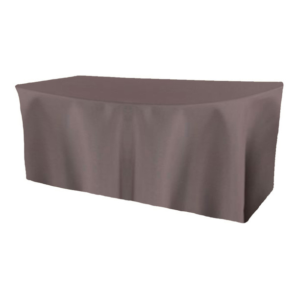 Solid Polyester Fitted Table Box Linen-Charcoal