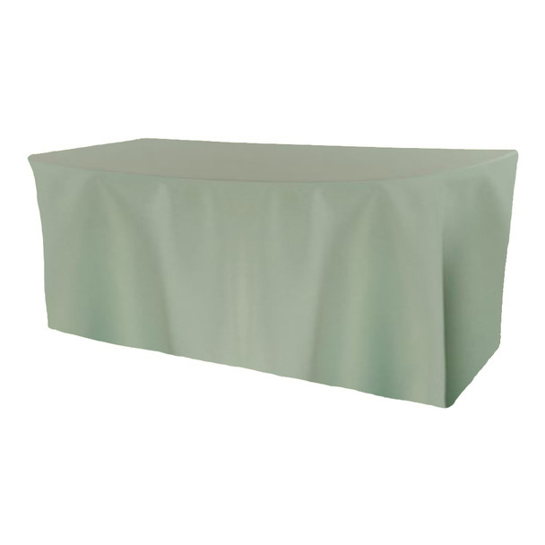 Solid Polyester Fitted Table Box Linen-Seafoam