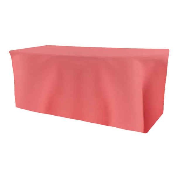 Solid Polyester Fitted Table Box Linen-Watermelon