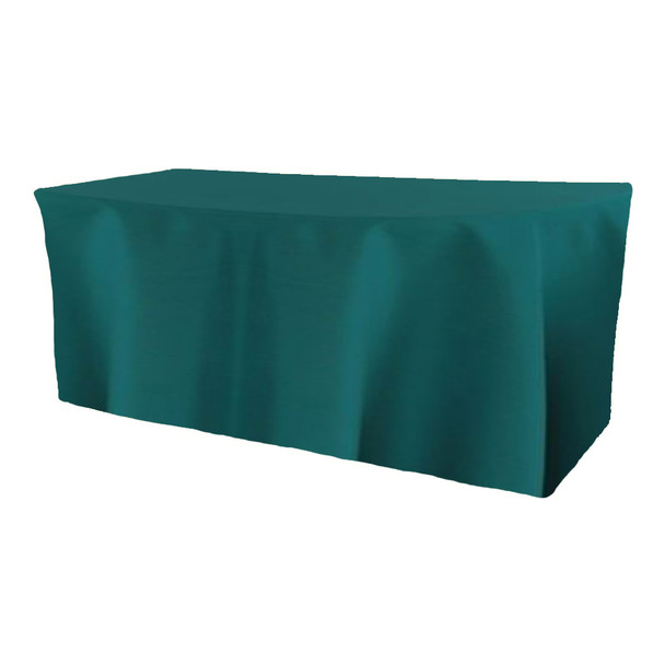 Solid Polyester Fitted Table Box Linen-Teal