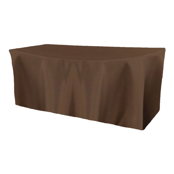 Solid Polyester Fitted Table Box Linen-Canteen