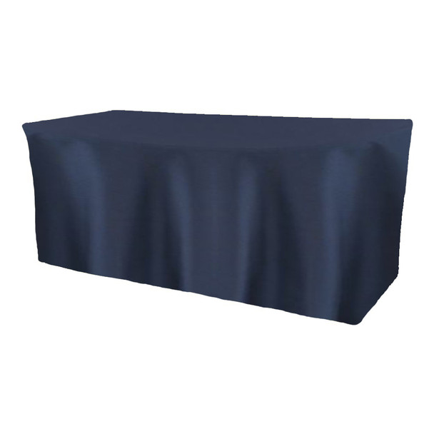 Solid Polyester Fitted Table Box Linen-Navy